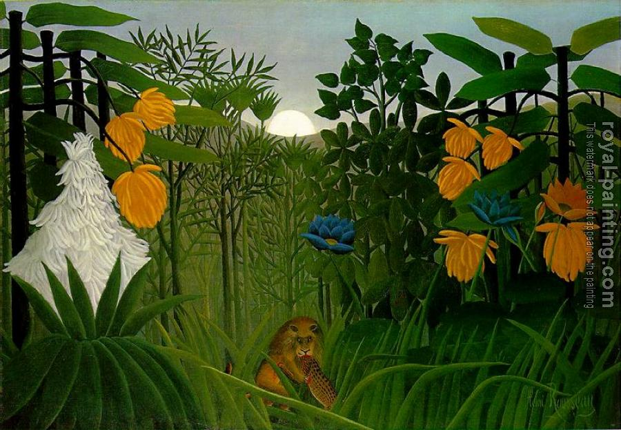Henri Rousseau : The Repast of the Lion