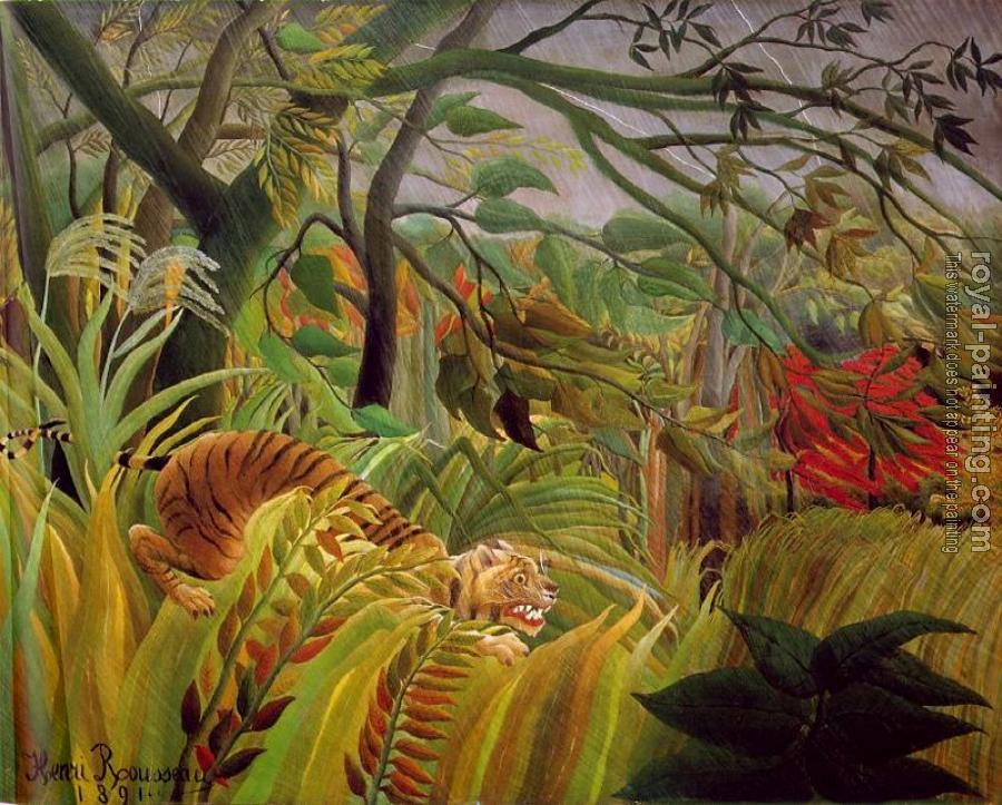 Henri Rousseau : Tiger in a Tropical Storm