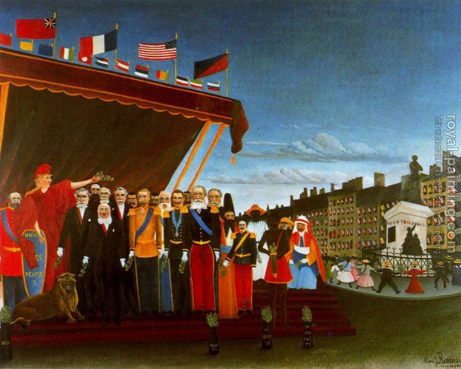 Henri Rousseau : The Representatives of Foreign Powers Coming to Salute the Republic as a Sign of Peace