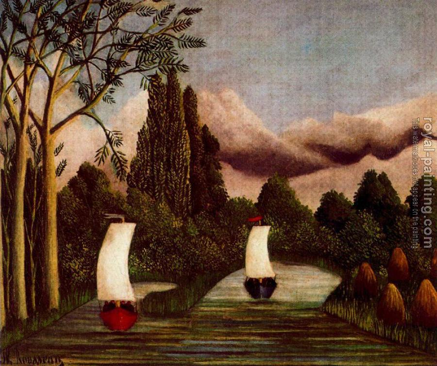 Henri Rousseau : The Banks of the Oise