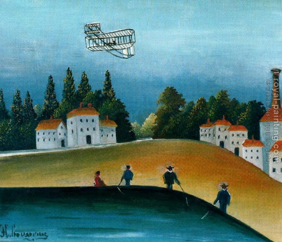 Henri Rousseau : The Fishermen and the Biplane