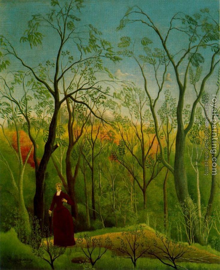 Henri Rousseau : The Walk in the Forest