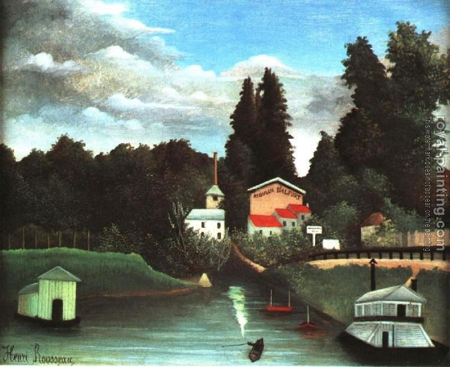 Henri Rousseau : The Mill at Alfort