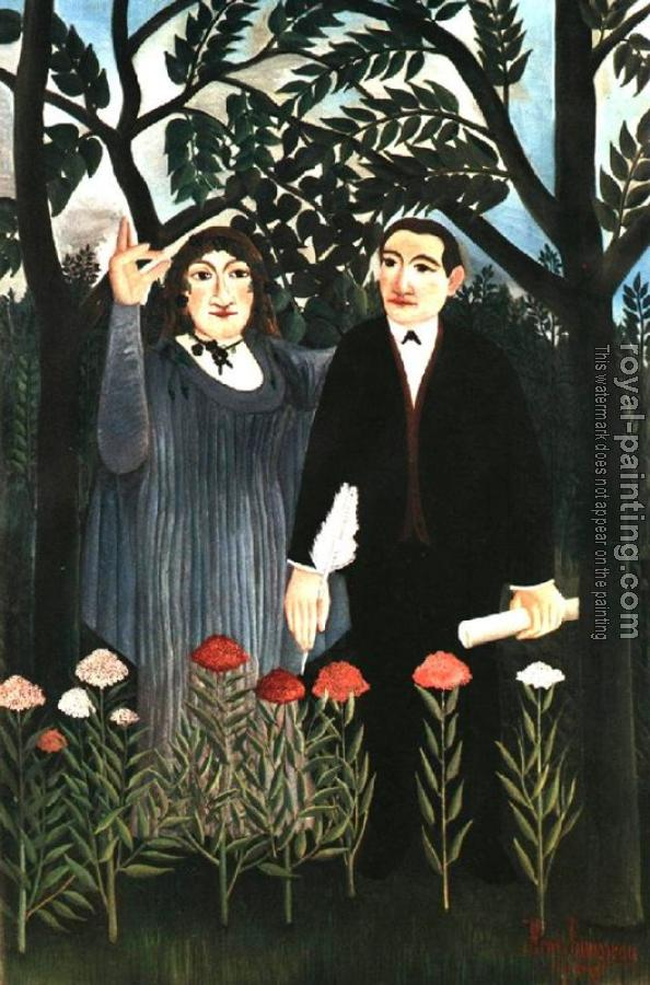 Henri Rousseau : The Muse Inspiring the Poet II