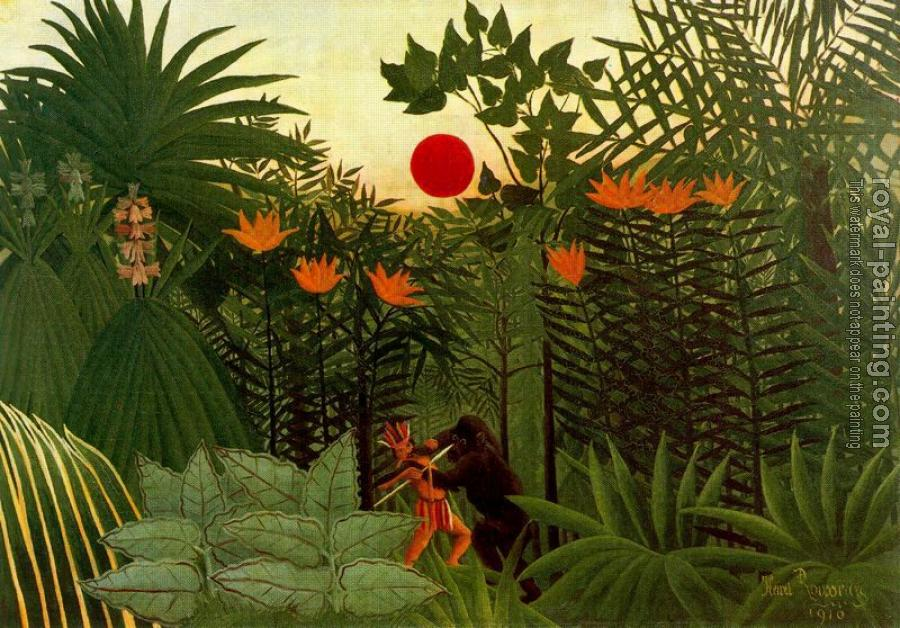 Henri Rousseau : Negro Attacked by a Jaguar II