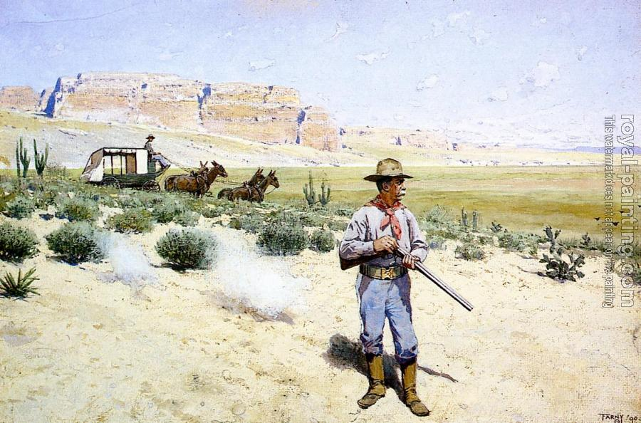 Henry Farny : Defending the Stagecoach