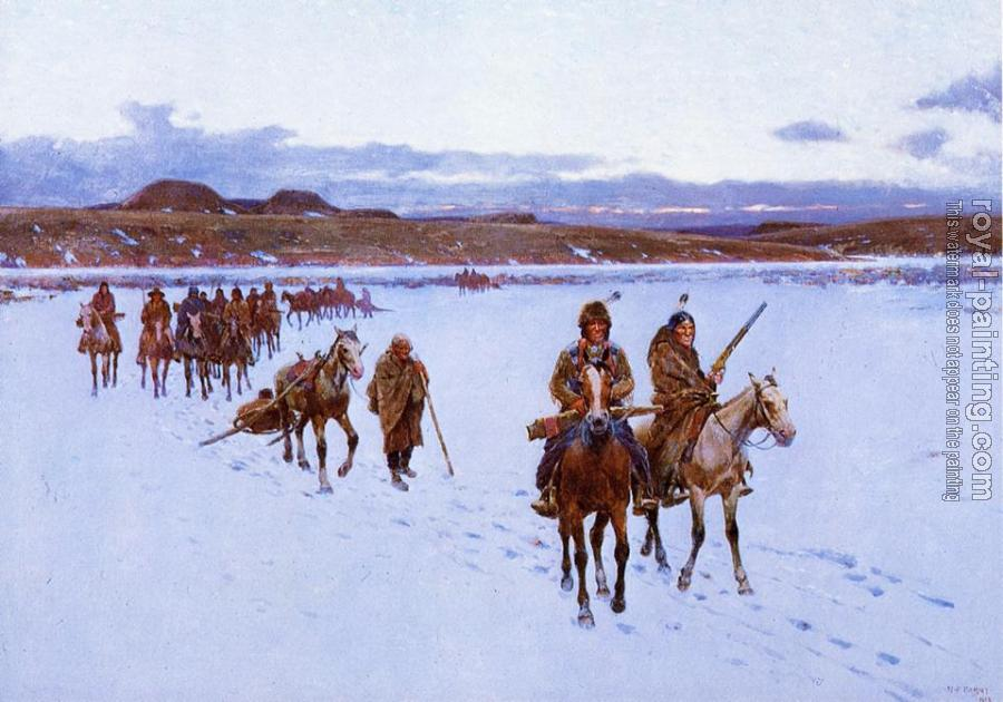 Henry Farny : Departure for the Buffalo Hunt