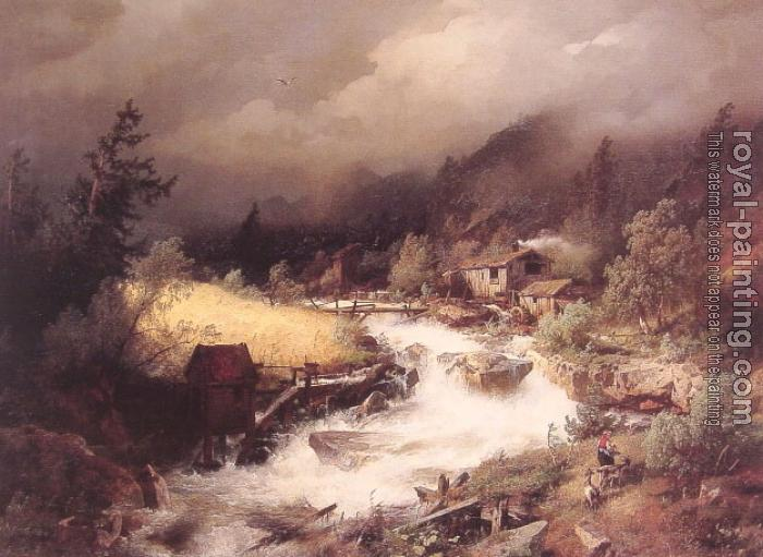 Herman Herzog : The Old Water Mill