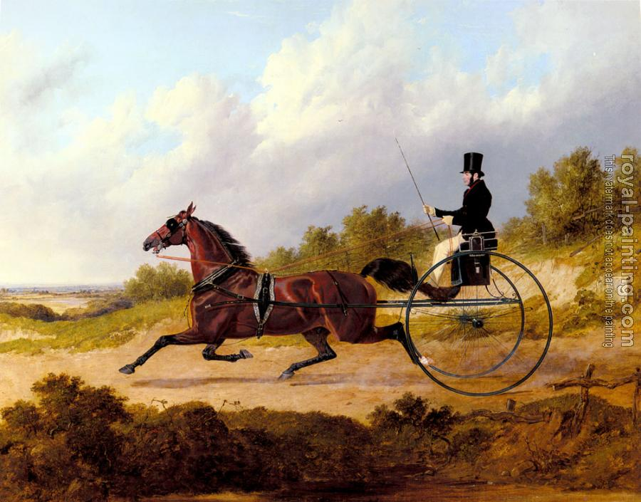 John Frederick Jr Herring : The Famous Trotter Confidence Drawing A Gig