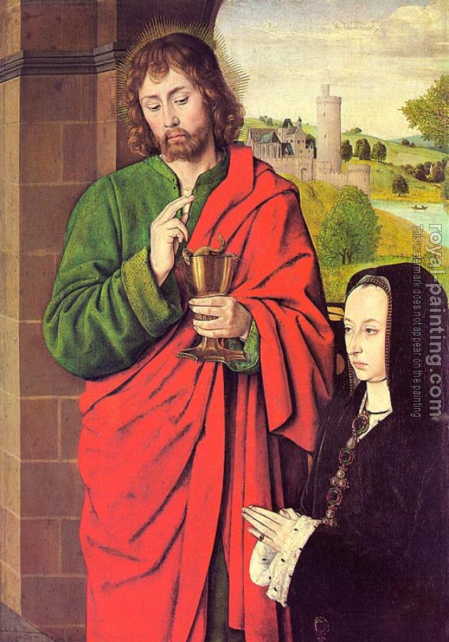Anne of France presented by Saint John the Evangelist