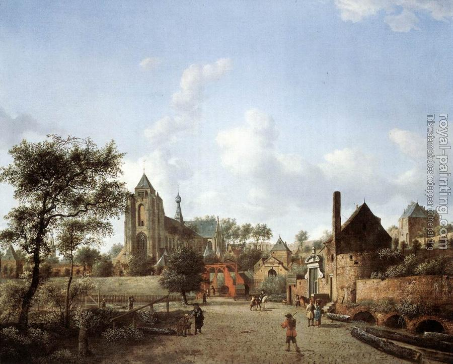 Jan Van Der Heyden : Approach to the Town of Veere