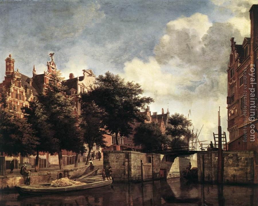 Jan Van Der Heyden : The Martelaarsgracht in Amsterdam