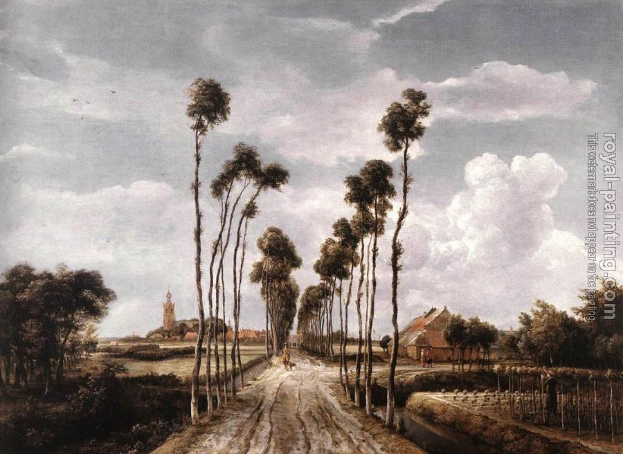 Meyndert Hobbema : The Alley at Middelharnis
