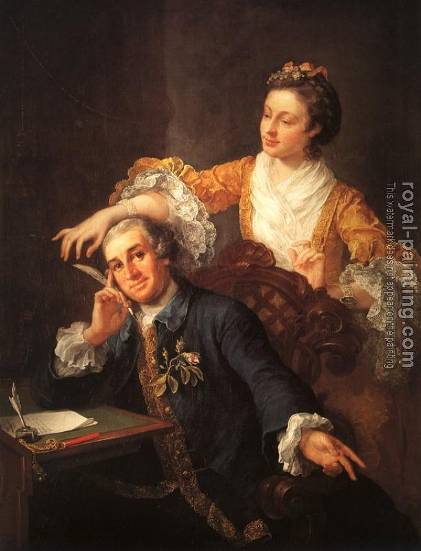 William Hogarth : David Garrick and his Wife