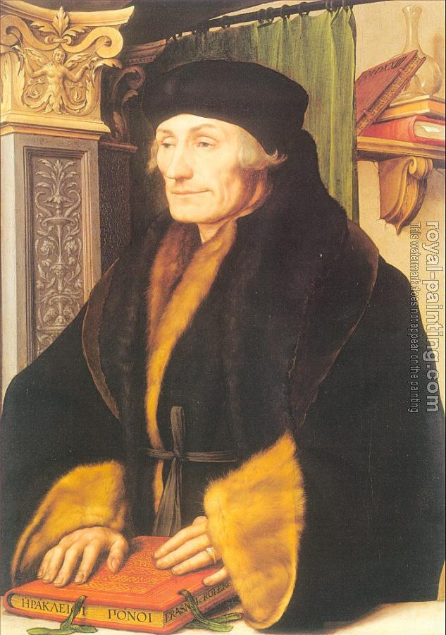 Hans The Younger Holbein : Portrait of Erasmus of Rotterdam