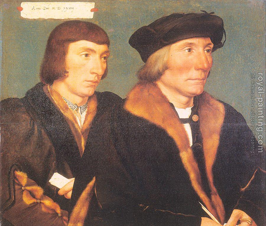 Hans The Younger Holbein : Double Portrait of Sir Thomas Godsalve and His Son John