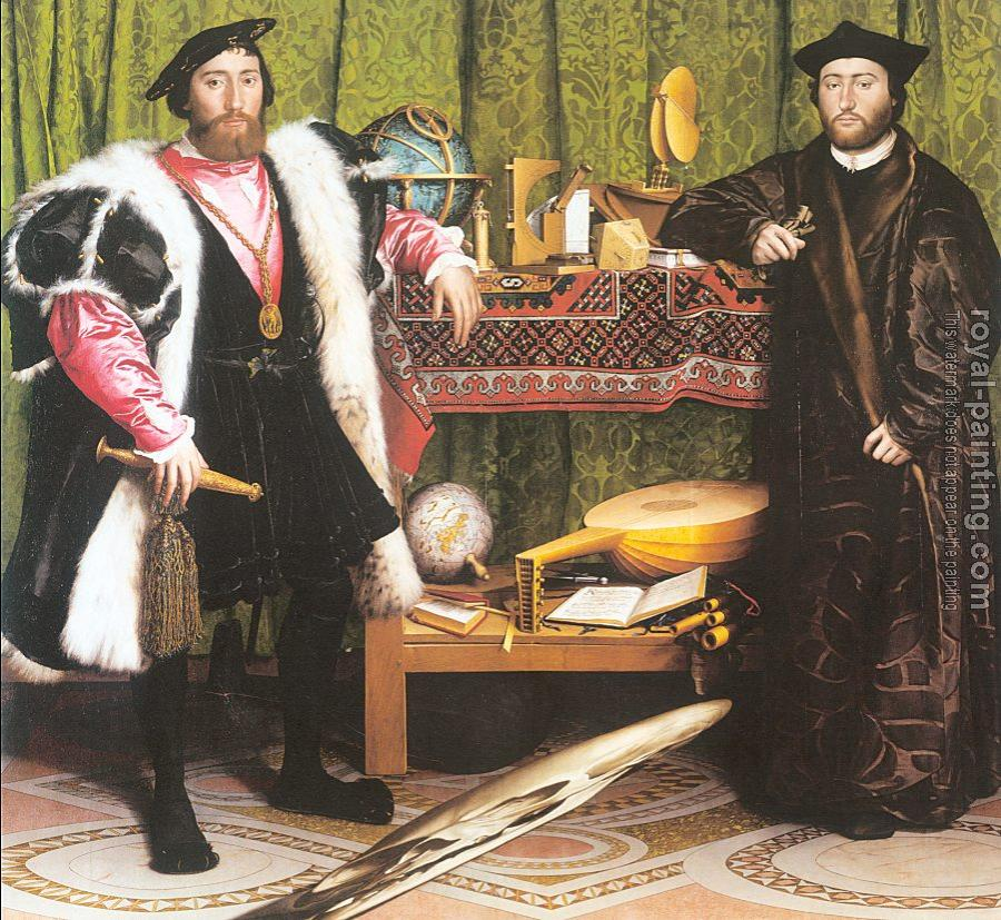 Hans The Younger Holbein : Jean de Dinteville and Georges de Selve