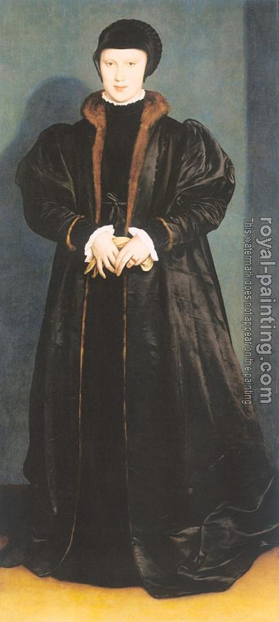 Hans The Younger Holbein : Christina of Denmark, Ducchess of Milan