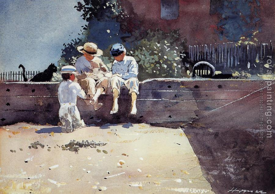 Winslow Homer : Boys and Kitten