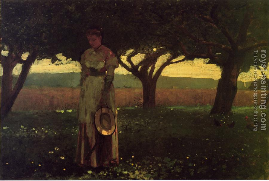Winslow Homer : Girl in the Orchard