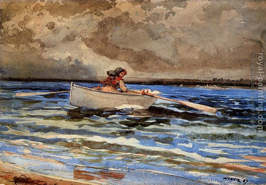 Winslow Homer : Rowing at Prout's Neck