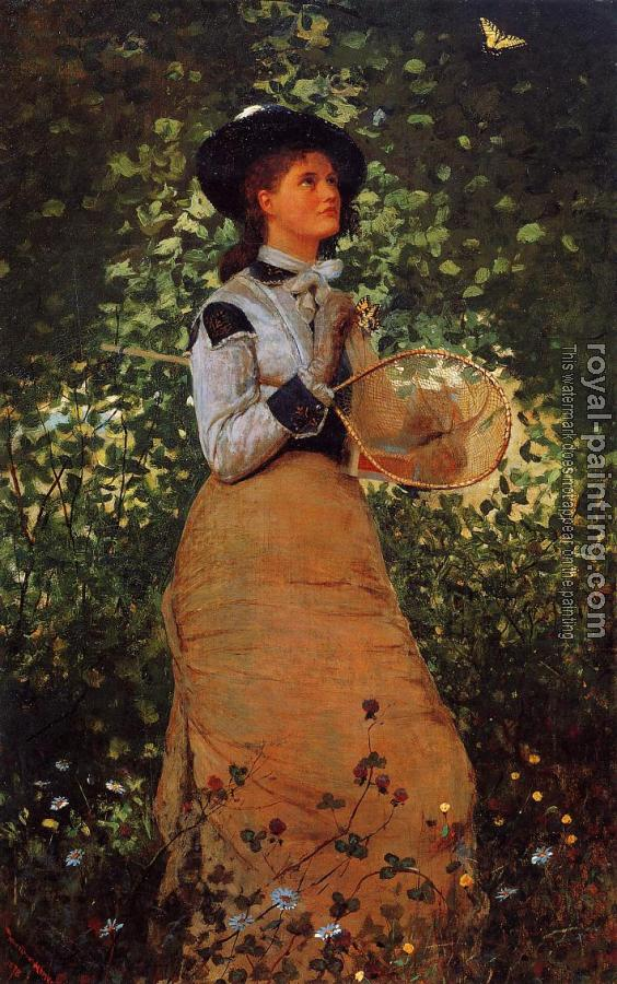 Winslow Homer : The Butterfly Girl