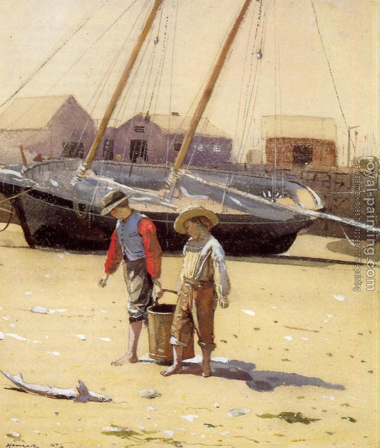Winslow Homer : A Basket of Clams