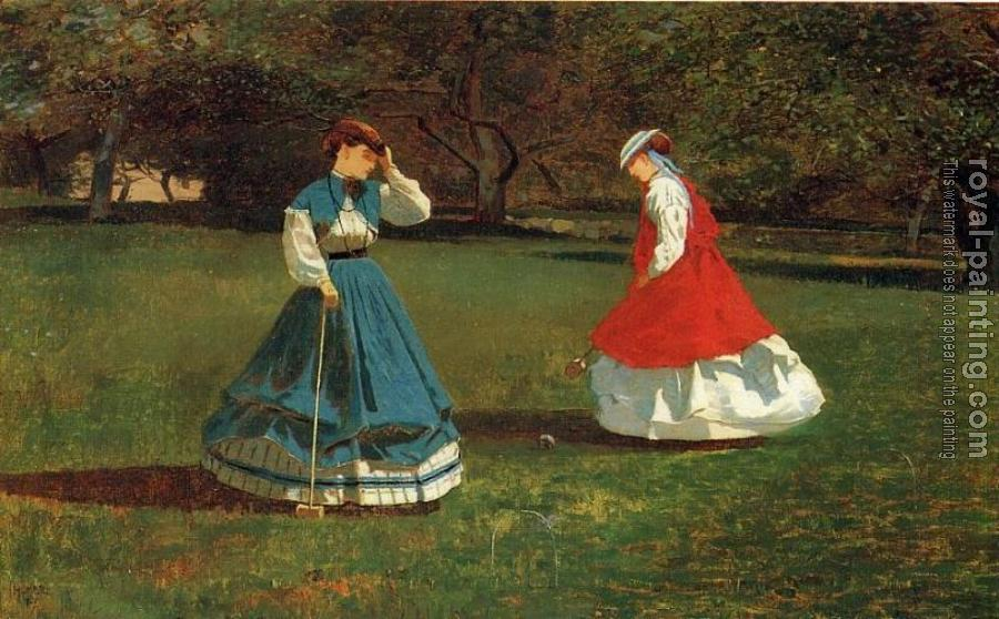 Winslow Homer : A Game of Croquet