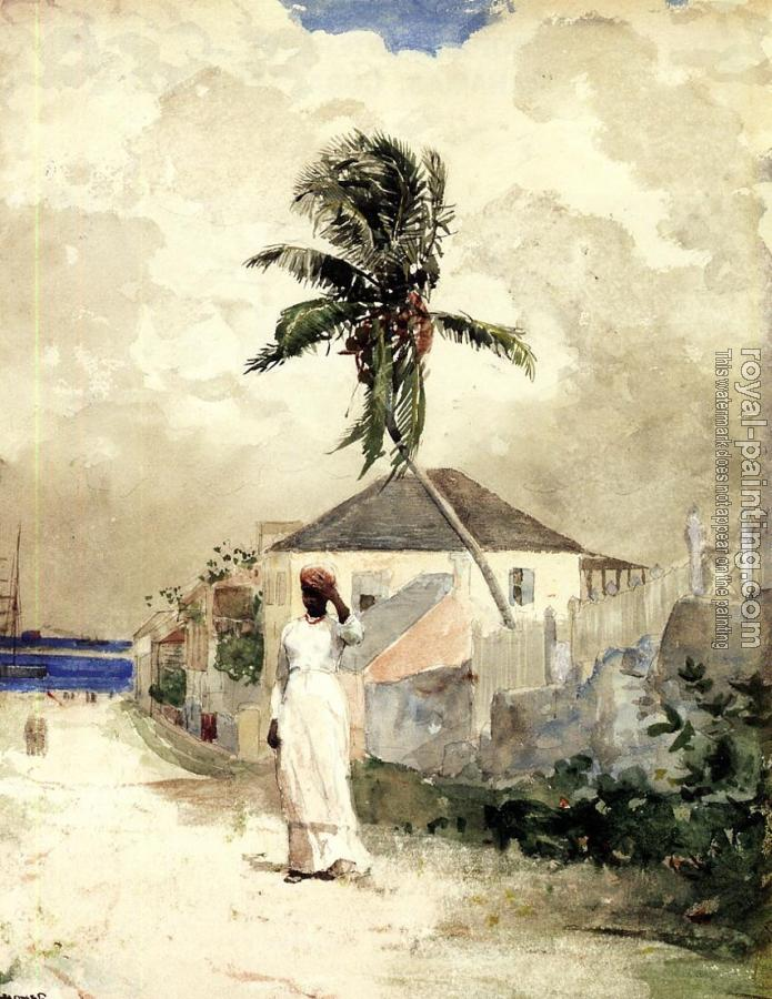 Winslow Homer : Along the Road, Bahamas