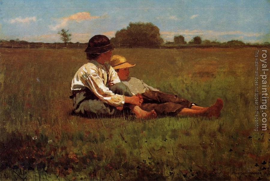 Winslow Homer : Boys in a Pasture