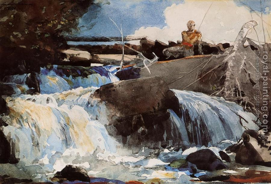 Winslow Homer : Casting in the Falls