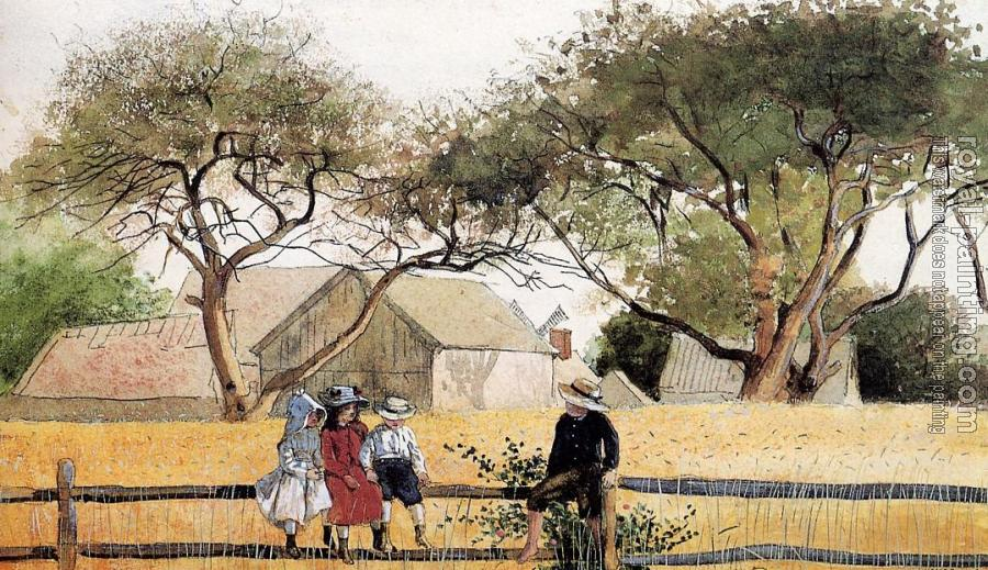 Winslow Homer : Children on a Fence