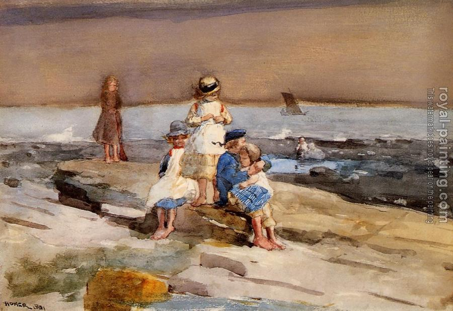 Winslow Homer : Children on the Beach II