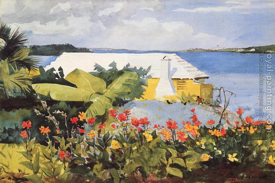 Winslow Homer : Flower Garden and Bungalow, Bermuda