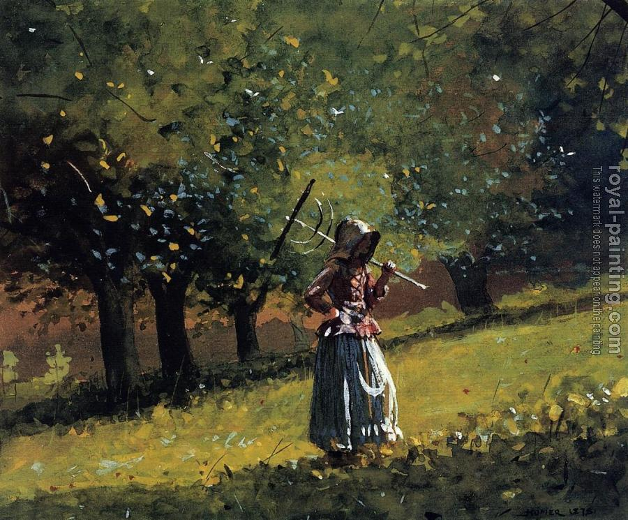 Winslow Homer : Girl with a Hay Rake II