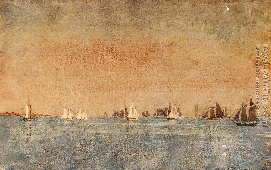 Winslow Homer : Gloucester Harbor, Fishing Fleet