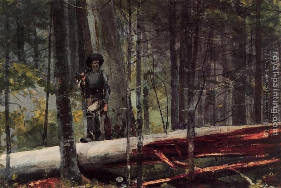 Winslow Homer : Hunter in the Adirondacks