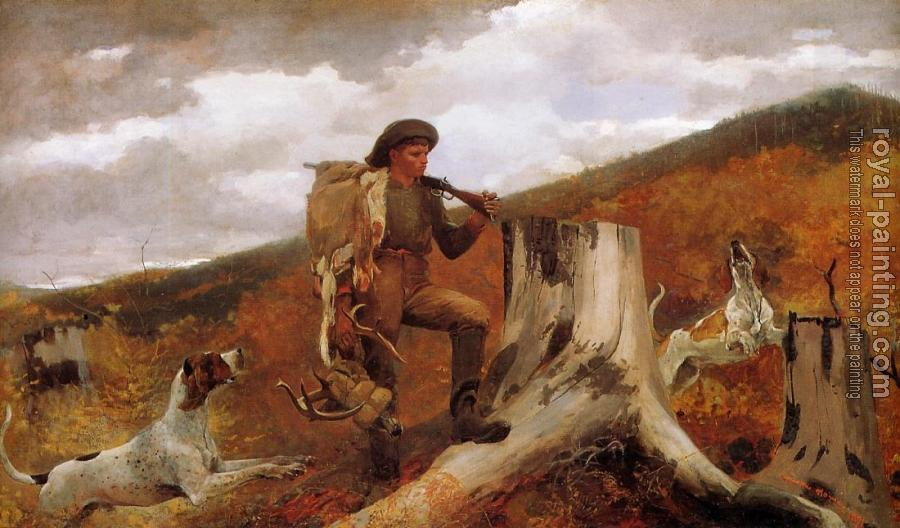 Winslow Homer : Huntsman and Dogs