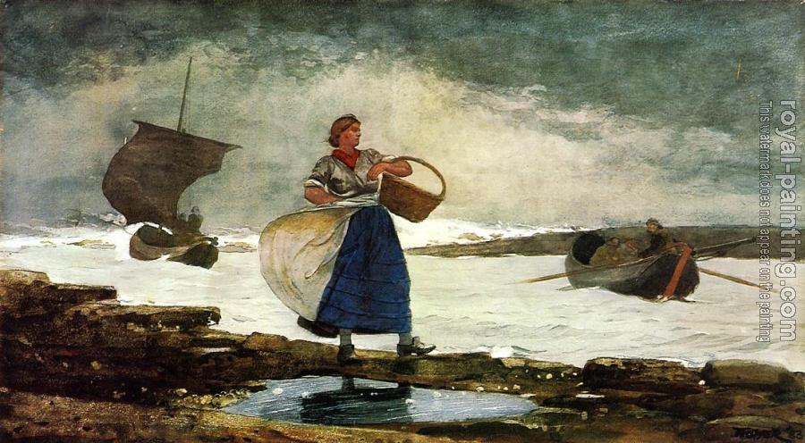 Winslow Homer : Inside the Bar, Tynemouth