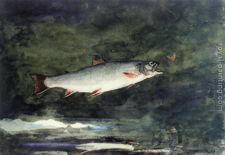 Winslow Homer : Leaping Trout