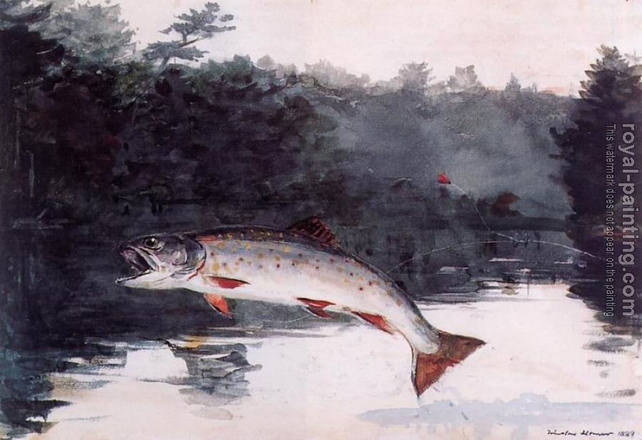 Winslow Homer : Leaping Trout III