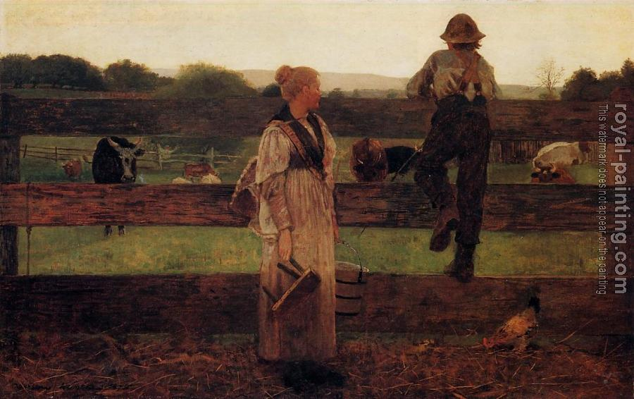Winslow Homer : Milking Time
