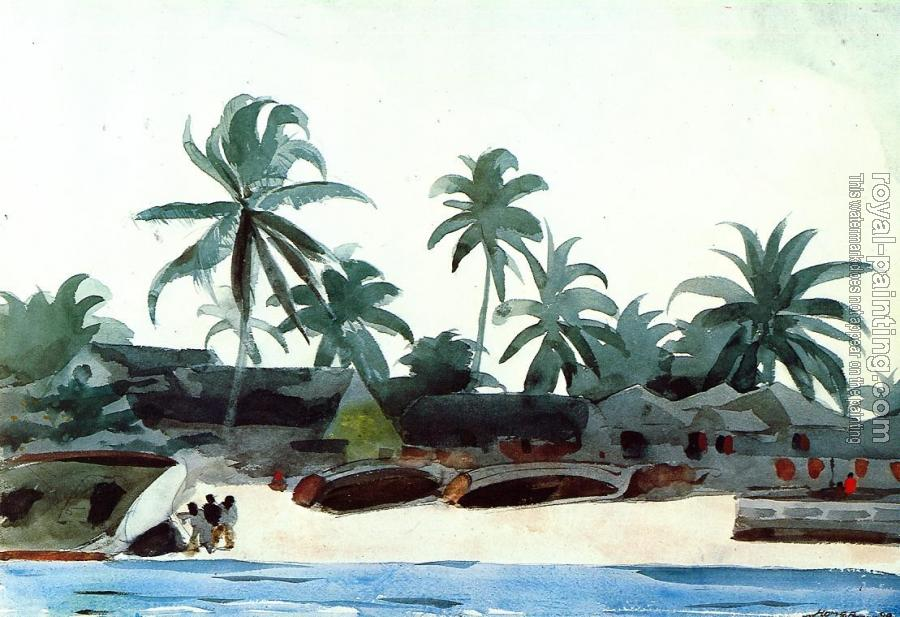 Winslow Homer : Negro Cabins and Palms