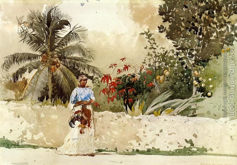 Winslow Homer : On the Way to , Bahamas