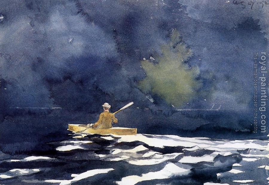 Winslow Homer : Paddling at Dusk