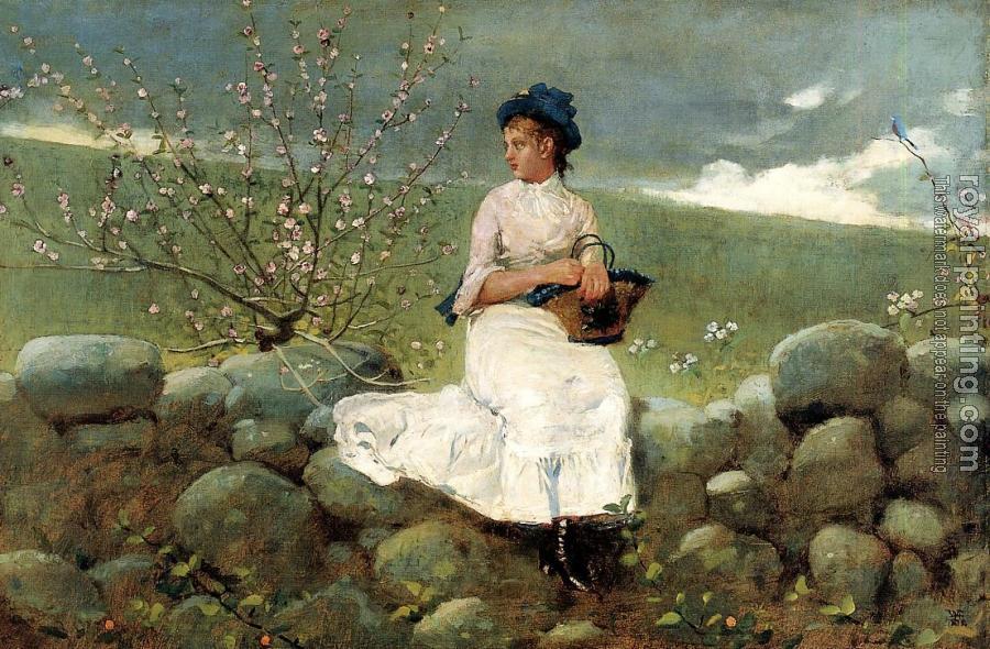 Winslow Homer : Peach Blossoms III