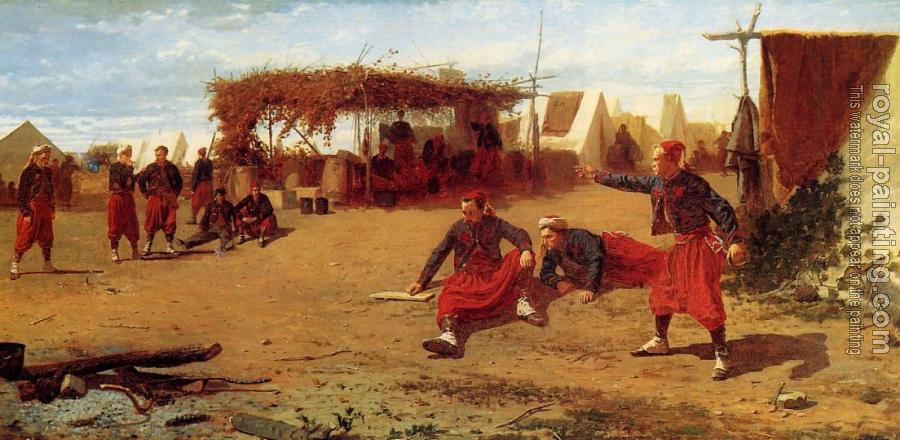 Winslow Homer : Pitching Horseshoes or Quoit Players