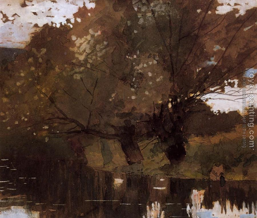Winslow Homer : Pond and Willows, Houghton Farm