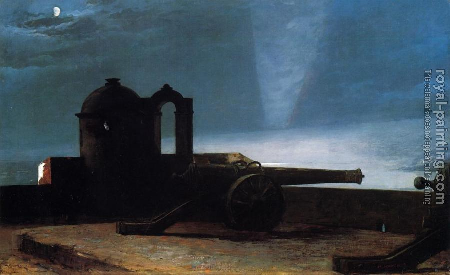 Winslow Homer : Searchlight on Harbor Entrance, Santiago de Cuba