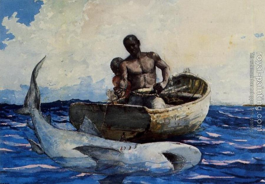 Winslow Homer : Shark Fishing II
